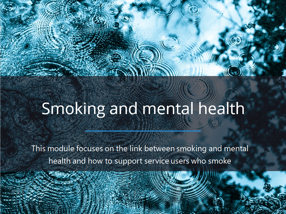 IMPACT project: smoking and mental health eLearning