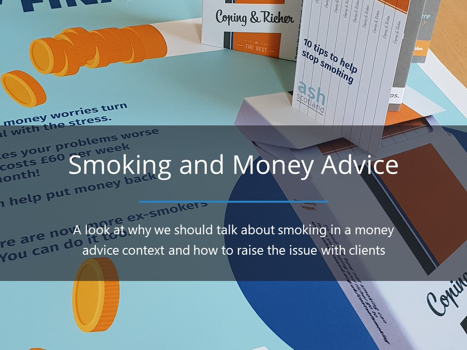 Raising the issue of smoking in a money advice setting